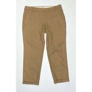 J. Crew Brown 100% Wool Cafe Capri Pants